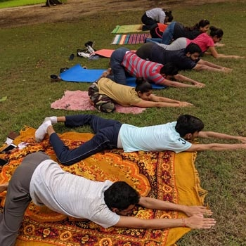 Yoga day our office