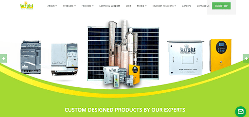 Bright solar limited website case study